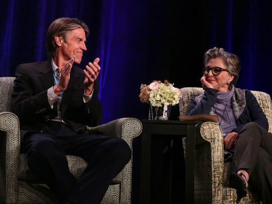"H.W. Brands and Hon. Barbara Boxer take part in a  panel discussion titled ""The Next Four Years"" moderated by Van Gordon Sauter that also includes Evan Thomas, Richard Reeves, Hon. Gray Davis, Geoff Cowan, Douglas Brinkley, during the Rancho Mirage Writers Festival Saturday night, January 28, 2017 at the Omni Rancho Las Palmas Hotel in Rancho Mirage."