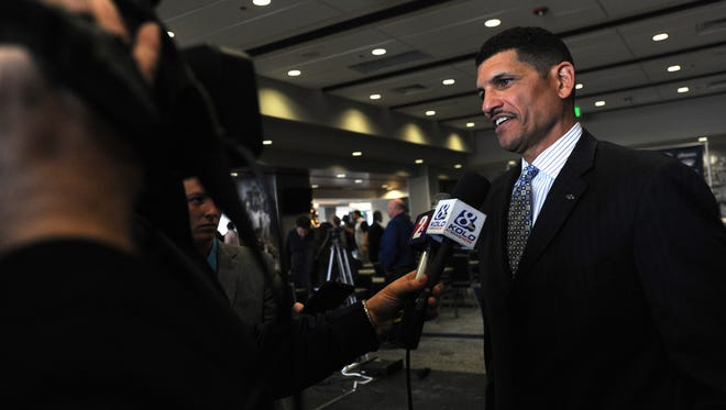 Wolf Pack head football coach Jay Norvell.