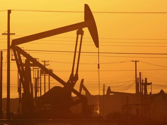 Pumping oil in California
