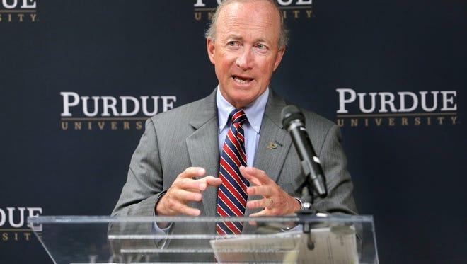 Purdue University President Mitch Daniels
