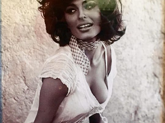 This photograph of a young Sophia Loren is one of many images celebrating Italians on the walls of Toni Rigatonis.