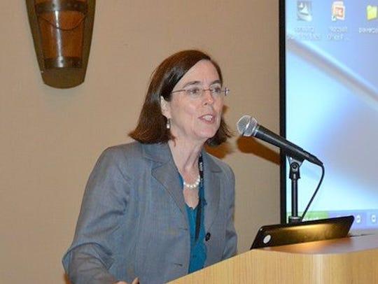 Oregon Secretary of State Kate Brown.