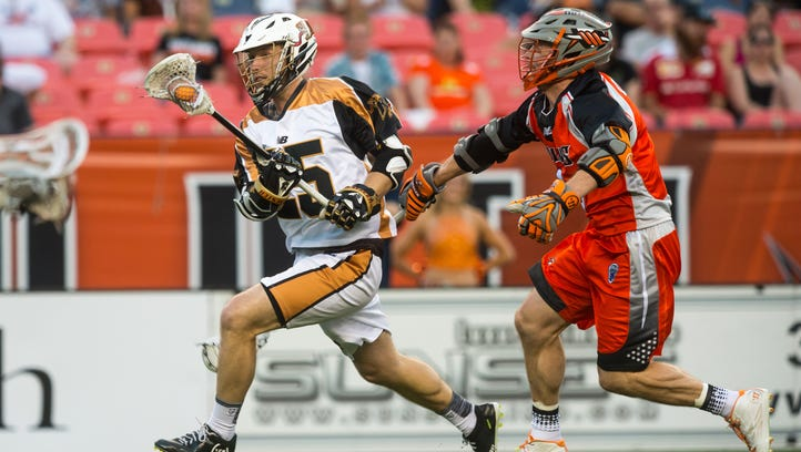Rochester Rattlers Kyle Denhoff, a Fisher grad, moves