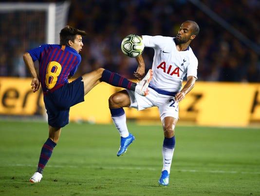 Soccer: International Champions Cup-FC Barcelona at Tottenham Hotspur