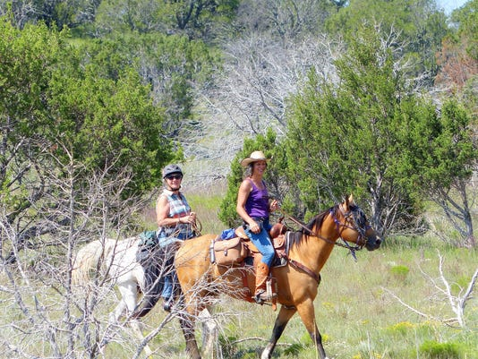 riding at Fort Stanton