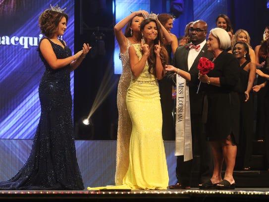 Laryssa Bonacquisti reacts to being named Miss Louisiana