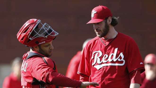 The Reds need Logan Ondrusek, right, to help bridge the gap from starter to the back end of the bullpen.