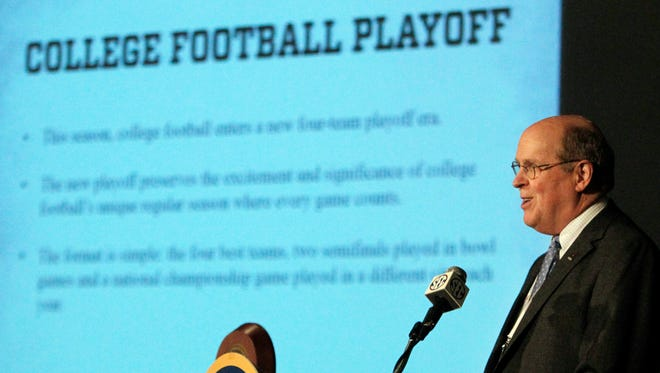 College Football Playoff executive director Bill Hancock said Auburn and Alabama would have had a rematch in the national semifinals last season.