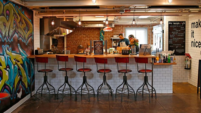 The Larder + The Delta is a small, six seat counter at DeSoto Central Market.