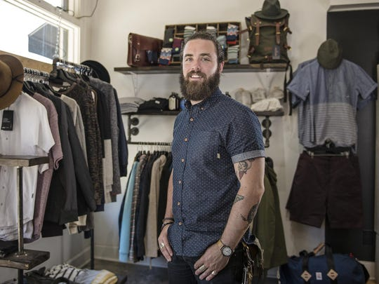 Tommy Dant, owner of James Dant in Irvington, poses for a portrait at the shop, Indianapolis, Tuesday, June 21, 2016.