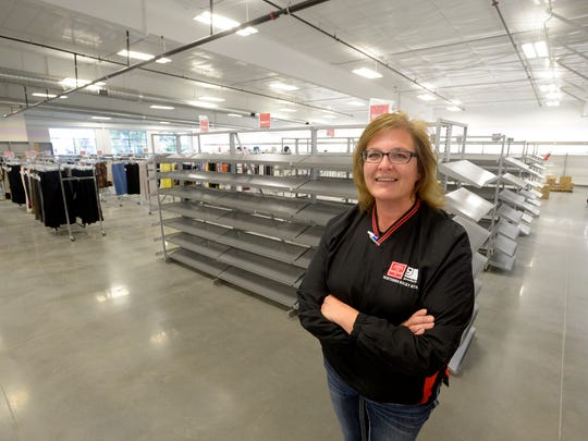 TRIBUNE PHOTO/RION SANDERS Laurie Gorence, manager of the Goodwill Store. stands in the new outlet at 1201 7th St. S. Laurie Gorence, manager of the Goodwill Store. stands in the new store at 1201 7th St. S.
