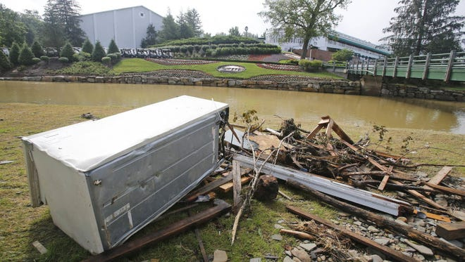 Thee Greenbrier Resort in the days after the flooding.
