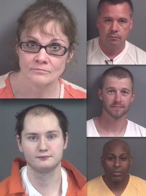Clockwise from top left: Teresa Gossett, Robert Jeffrey, Joshua Tuttle, Kevin Bables and Coty O'Donohue.