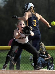 Pittsford Sutherland's Morgan Schild, right, played two full seasons as a sophomore and junior in softball.