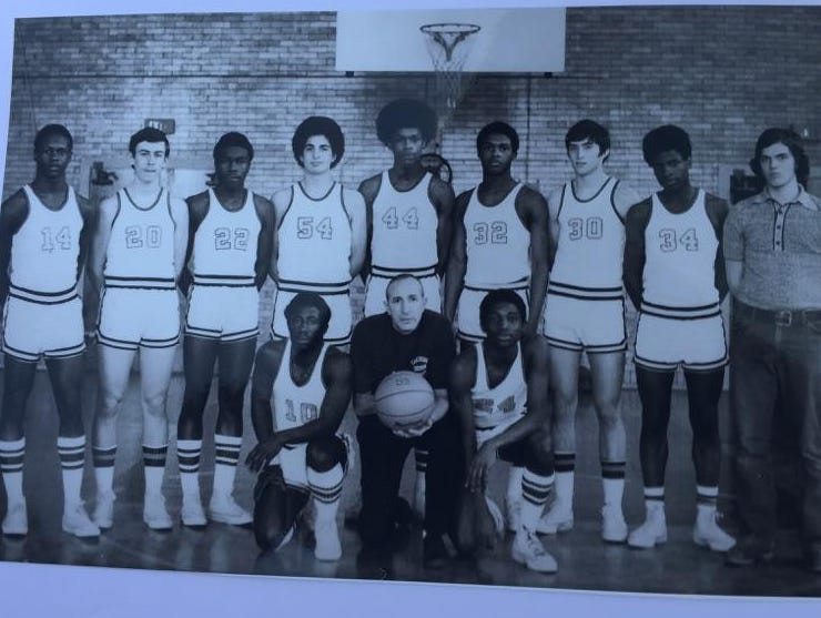 Vito Costanza, center, with the Edison basketball team during the 1970s.