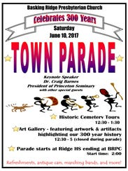 The town parade will feature music, antique cars and