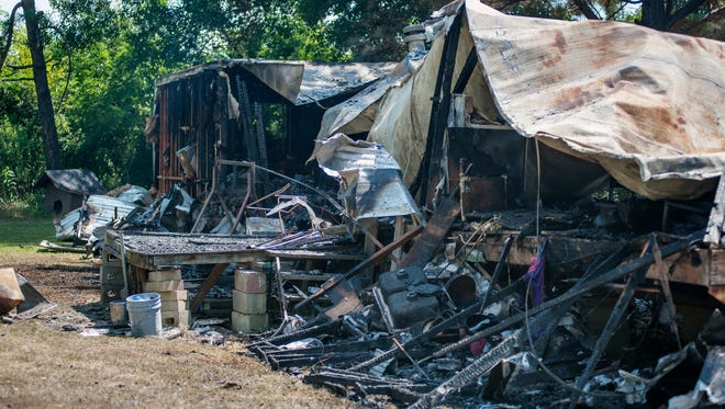 The home of the family of Melissa Primer was completely destroyed by fire on Thursday.