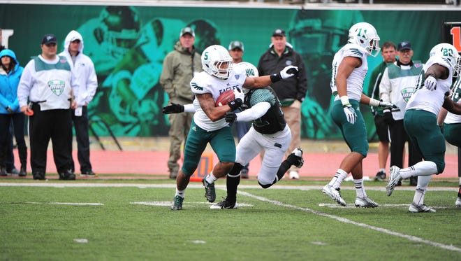 Everett grad Jaleel Canty has made the transition to receiver from cornerback for Eastern Michigan this season. (EMU athletics)