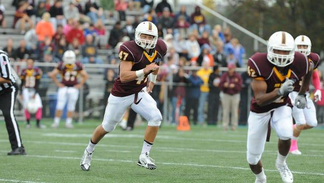 Salisbury junior inside linebacker Nick Anzallo led the Sea Gulls in tackles last year with 70.