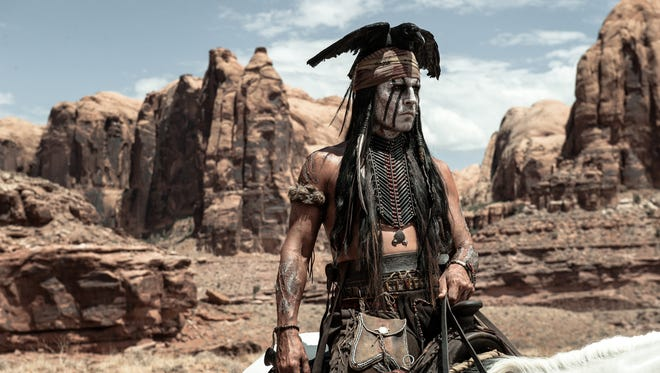 Johnny Depp as Tonto in 'The Lone Ranger.'