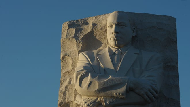 The Martin Luther King Memorial in Washington, D.C., is seen in 2012.