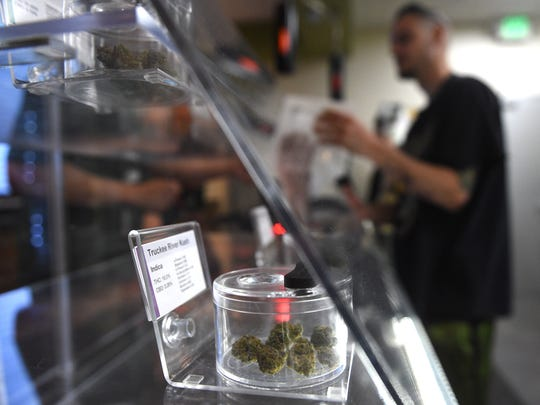 Opening day of legal recreational marijuana sales at the Sierra Wellness Connection and Blum Reno dispensaries in Reno on July 1, 2017.