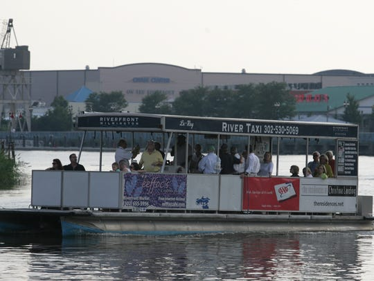 The River Taxi cruises the Christina River in Wilmington.