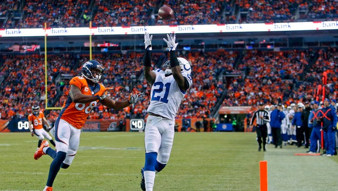 Indianapolis Colts cornerback Vontae Davis may be one of the players tasked with covering Patriots tight end Rob Gronkowski on Sunday.