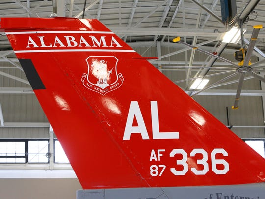 "Gov. Kay Ivey, in a press conference, stated that Secretary of the Air Force Heather Wilson announced that the Alabama Air National Guard's 187th Fighter Wing has been chosen as the home for the new F-35 Joint Strike Fighter Jet on Dec. 21, 2017, in Montgomery. ""I am thrilled and very pleased that the 187th Fighter Wing has been chosen as the home for the new F-35 fighter jet,"" Ivey said. ""This announcement is huge for the River Region, it is huge for Alabama and is certainly a welcome gift for us as we approach Christmas. The decision to send the F-35 to Montgomery is a testament to the quality of our people and our workforce, and further cements Alabama's reputation as the leading aerospace state in the nation."""
