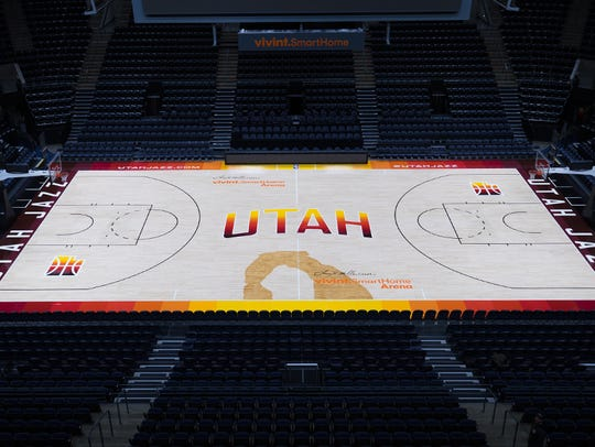 The alternate Jazz court designed for their City jerseys.