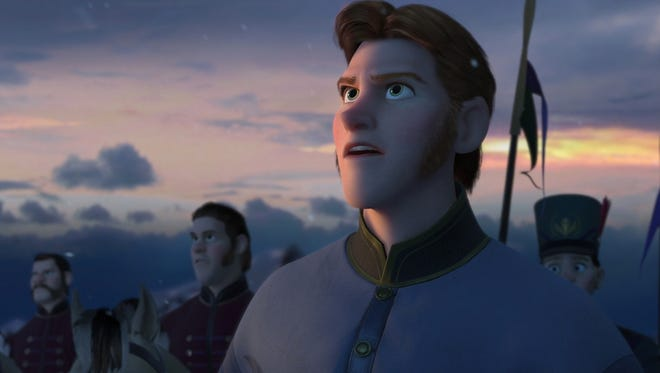 Hans in a scene from the animated motion picture 'Frozen.'