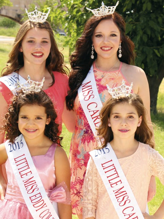 Clockwise, from top left: Little Miss Eddy County Pre-Teen Chloe Carnathan, Miss Carlsbad Outstanding Teen Stormi Barnes, Little Miss Carlsbad Hana Holman, Little Miss Eddy County Sadie Bryant.
