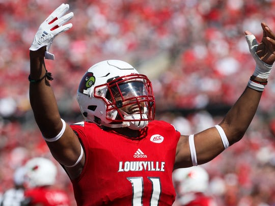 Louisville's Kemari Averett keeps the crowd excited in a 2017 game.
