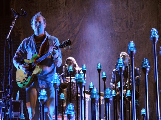 Musician Justin Vernon of Bon Iver performs onstage during day 2 of the 2012 Coachella Valley Music & Arts Festival at the Empire Polo Field on April 14, 2012 in Indio, California.