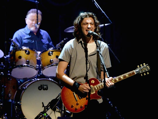 Deacon Frey of the Eagles performs during SiriusXM