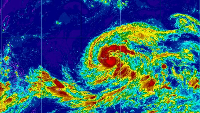 Tropical Storm Soudelor has been upgraded to a typhoon.