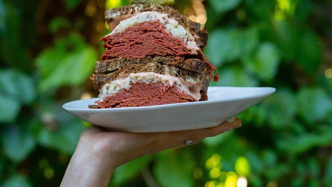 """Former Boca Raton resident Jenny Goldfarb created an entire vegan corned beef brand with the help of ABC's """"Shark Tank"""" show. Her Mrs. Goldfarb's Unreal Deli products are available online."""
