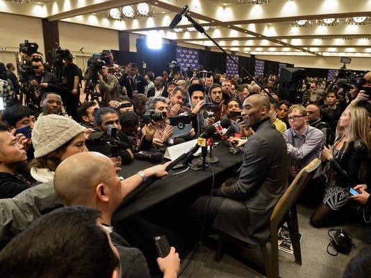 Kobe Bryant reporters