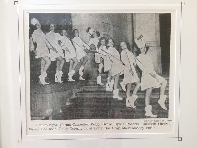 This undated news article of Tyson Jr. High majorettes