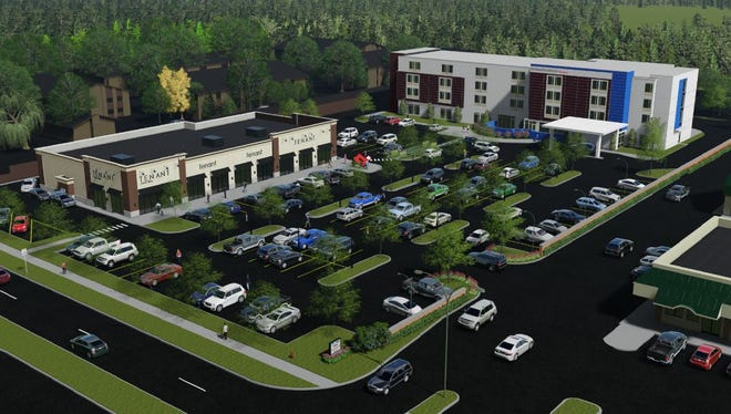 Boji Group plans to build a 4-story hotel along with a retail building at 1100 Trowbridge Road in East Lansing