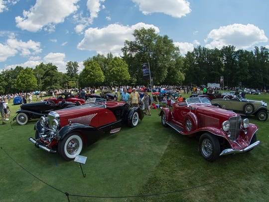 The Concours d'Elegance drew good crowds in excellent