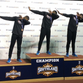 Northwestern State teammates finished 1-2-3 in the men's long jump at the Southland Conference Indoor Track and Field Championships Feb. 15, a feat done only twice before in the last 35 years of conference meet competition indoors and outdoors. (L-r) Third-place finisher Jacorious Jeter, winner Emmanuel Williams and runner-up Aaron Williams, Emmanuel's twin brother, accomplished the feat.
