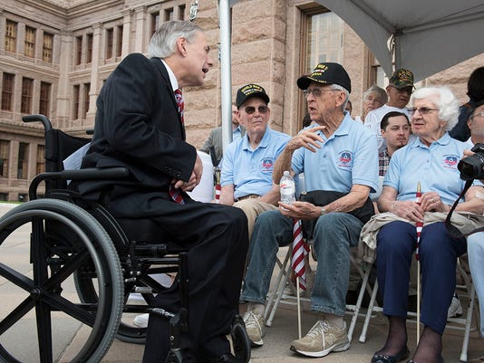Greg Abbott with veterans