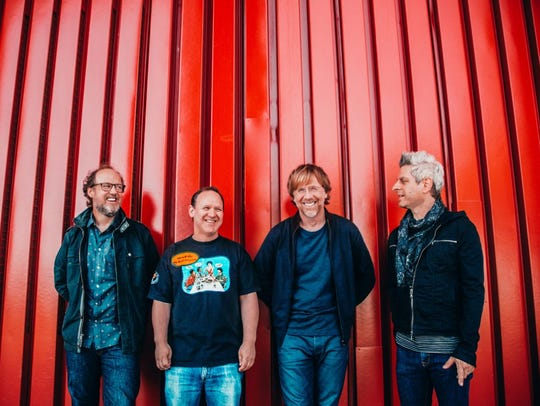 The four members of Phish - left to right, Page McConnell,