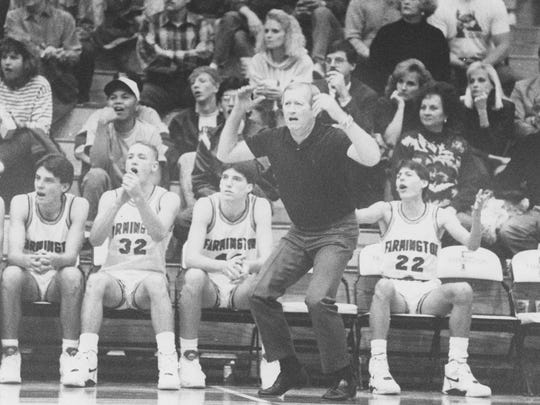 Marv Sander reacts to a play during a game on Dec. 12, 1990.