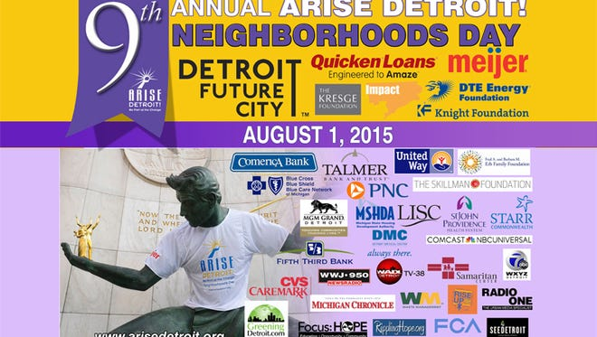 ARISE Detroit's 9th annual Neighborhood Day is Saturday, Aug 1., 2015.