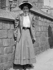 In this 1908 photo, Rose Fitzgerald poses at Windsor Castle in Windsor, Berkshire, England.
