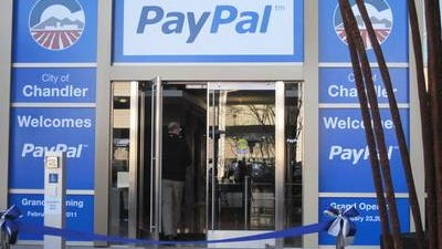 Chandler has agreed to pay slightly more than $1.5 million to PayPal, one of the world's largest e-commerce firms, to create jobs in the city over time.