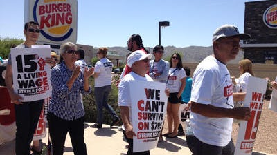 Fast-food workers protest in Phoenix.