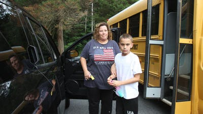 Janine Rivera of Putnam Valley and her son, Michael.